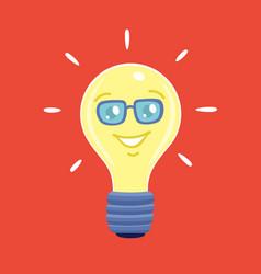 cartoon character bulb vector image