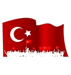 Cheering or protesting crowd turkey vector