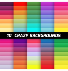 Crazy gradient background pack element vector image