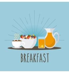 delicious and nutritive breakfast icon vector image