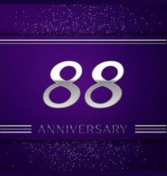 Eighty eight years anniversary celebration design vector