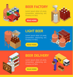 equipment and beer production banner horizontal vector image
