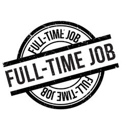 Full-time job stamp vector image