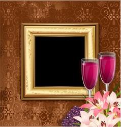 Glass wine fruit vector