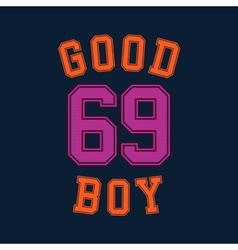 Good boy typography t-shirt graphics vector