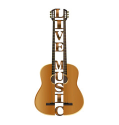 Guitar divided into parts vector