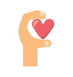 Hand with heart vector