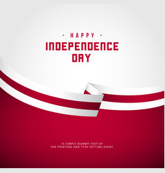 Happy england independence day template design vector