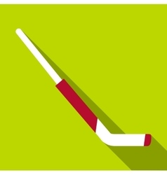 Hockey goalie stick icon flat style vector