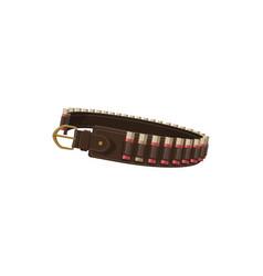 Hunting ammo equipment hunter bandolier belt vector