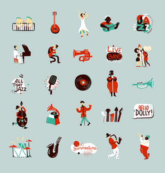 Jazz musicians set vector