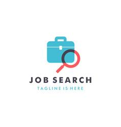 job search logo design template vector image