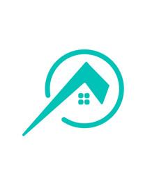 Letter architect home construction creative logo vector