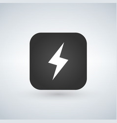 lightning application button icon isolated on vector image