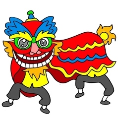 Lion dance Chinese vector
