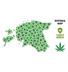 Marijuana collage estonia map vector