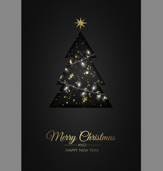 merry christmas background with christmas element vector image