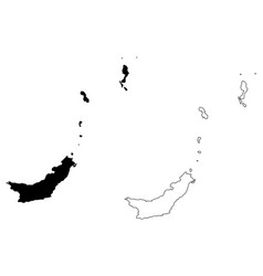 North sulawesi map vector