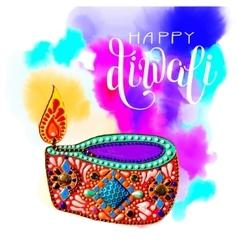 Original greeting card to deepavali festival vector