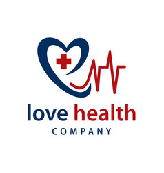 patients heartbeat logo design vector image