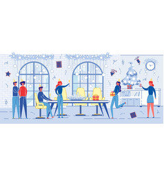 people on new year or christmas party celebration vector image