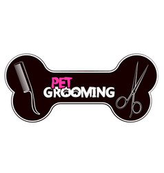 Pet grooming and care vector