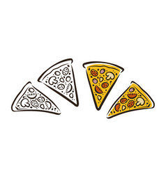 pizza pizzeria food symbol or logo vector image