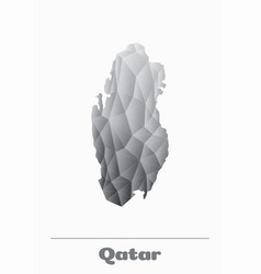 qatar network map black and white logo vector image