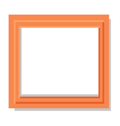 realistic dual orange frame flat and shadow theme vector image