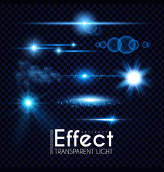 realistic lens flare elements collection light vector image