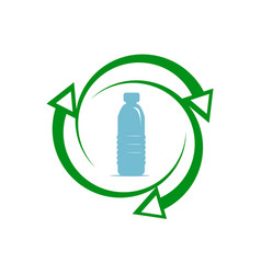 Recycle plastic icon vector