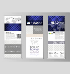 roll up banner stands flat design templates vector image