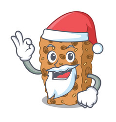 Santa granola bar mascot cartoon vector