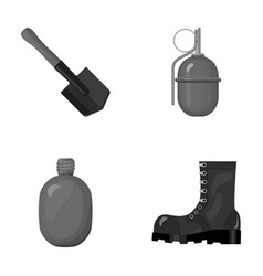 Sapper blade hand grenade army flask soldier s vector