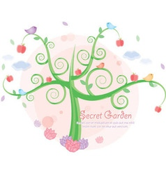 secret garden vector image