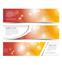 Set of hot summer horizontal banners vector image