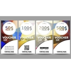 Set of modern gift voucher templates Colorful vector image