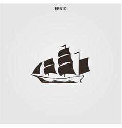ship logo minimalist elegant silhouette vector image