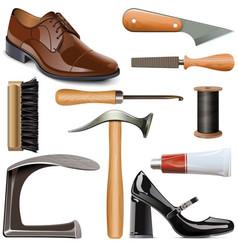 Shoemaker tools set vector