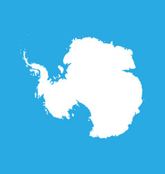 silhouette map af antarctica high detailed white vector image