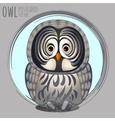 Smart grey owl cartoon series vector
