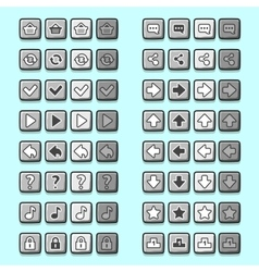 stone game icons buttons icons interface ui vector image