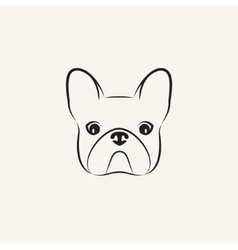 Stylized head of a dog on light background vector image