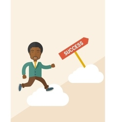 Successful african businessman vector