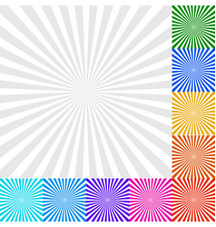sunbeam starburst - sunburst background set 9 vector image