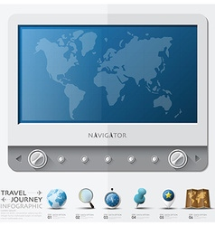 Travel And Journey World Map With Navigator vector