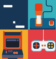 Videogames design vector image