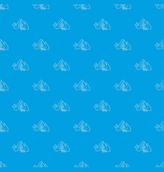 wash hand pattern seamless blue vector image
