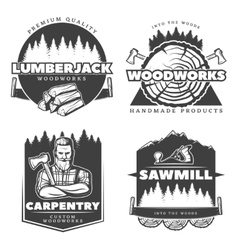 Woodworks Lumberjack Design Elements vector
