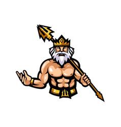 zeus mascot logo design vector image